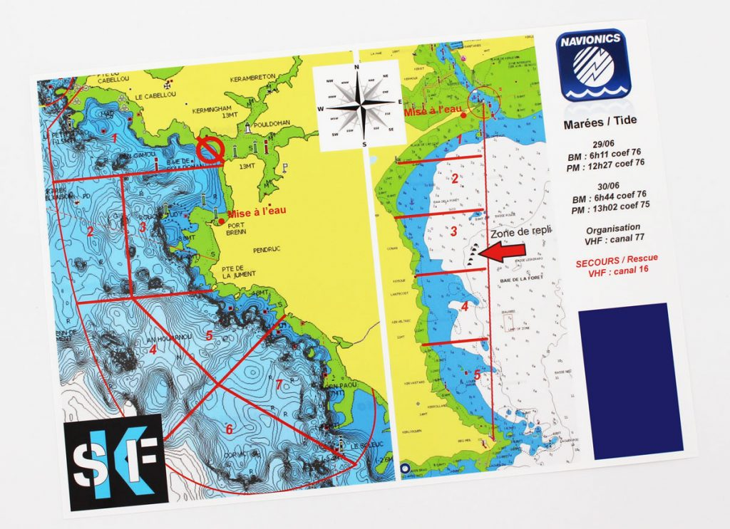 Carte maritime Sea Kayak Fishing - Blog Cloître Imprimeur