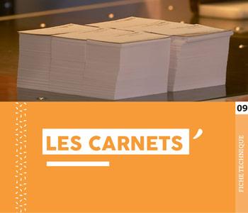"""Fiche technique """"Les carnets"""" - Cloître Imprimeur"""