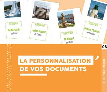 """Fiche technique """"La personnalisation de vos documents"""" - Cloître Imprimeur"""