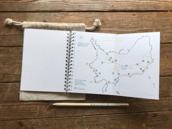 """Plan du jeu de piste papier """"Sur les chemins d'Hoedic"""""""