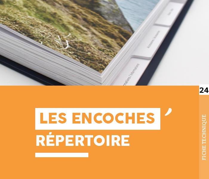 """Fiche technique """"Les encoches répertoire"""" - Cloître Imprimeur"""