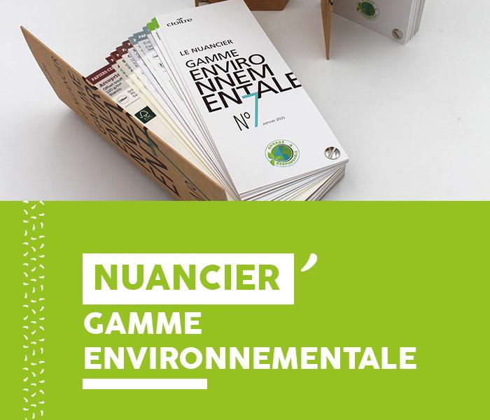 Nuancier Gamme environnementale - Cloître Imprimeur